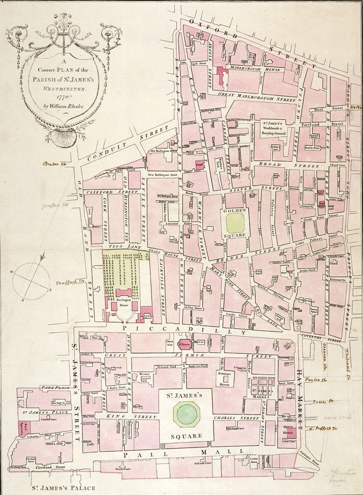 1770 map of st james