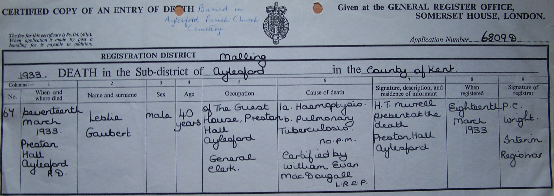 Gaubert birth marriage death certificates r to s sidney1892 sawd1933 aiddatafo Choice Image